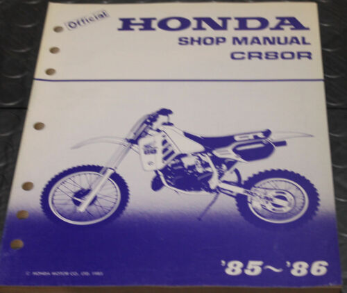 NOS OEM Honda Service Shop Manual NEW 85-86 CR80R CR 80 R