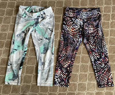 Womens Zella Cropped Pants Yoga Running Lot Of 2 Pairs Sz Small