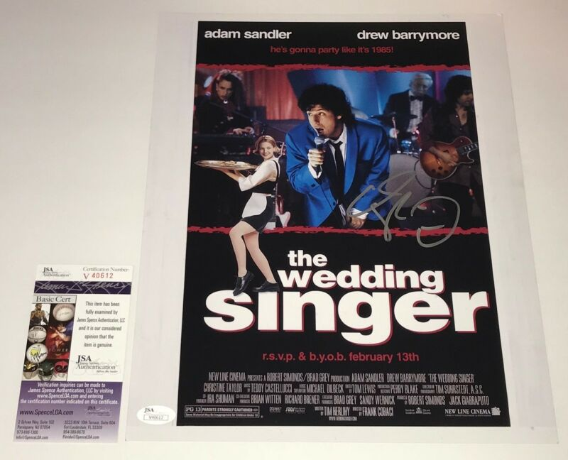 Adam Sandler Signed WEDDING SINGER 11x14 Photo IN PERSON Autograph JSA COA
