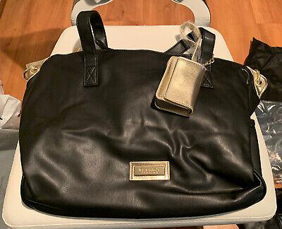 Versace Parfums Gold Black Large Tote Travel Handbag Dust Duffle Bag Carry On