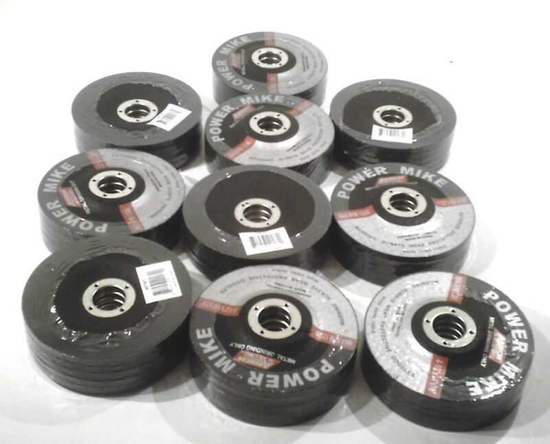 "50 PC. 4 1/2"" INCH GRINDING WHEEL/DISC  7/8"" INCH ARBOR  1/4"" INCH THICK"