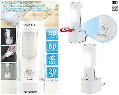 Nachtlicht mit Bewegungssensorr & Taschenlampe 2in1 Batterie Autark  Nachtlampe