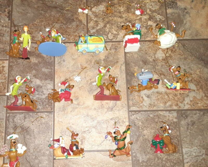 Lot of 17 Scooby-Doo Holiday Christmas Ornaments