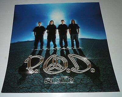 P.O.D.~Satalite~Promo Poster Flat~Double Sided~12x12~NM~2001