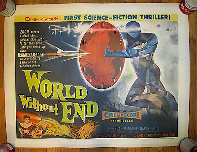 World Without End    1956     Allied Artists    Classic Sci Fi   Original Poster