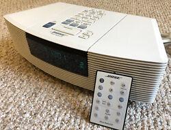 Bose Wave AWRC-1P Stereo CD Player Aux Alarm Clock Radio Remote Ivory White