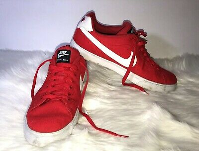 separation shoes 4c0a4 519ee Nike Court Tour Men s Red Athletic Skate Shoes Size 11