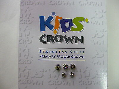 Stainless Steel Primary Molar Crowns All sizes Kids Crown 3M Compatible(refill)