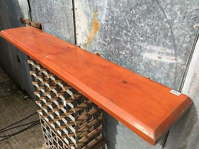 58 3/8 X 10 3/8 Inches Old Reclaimed Pine Over Mantel Shelf
