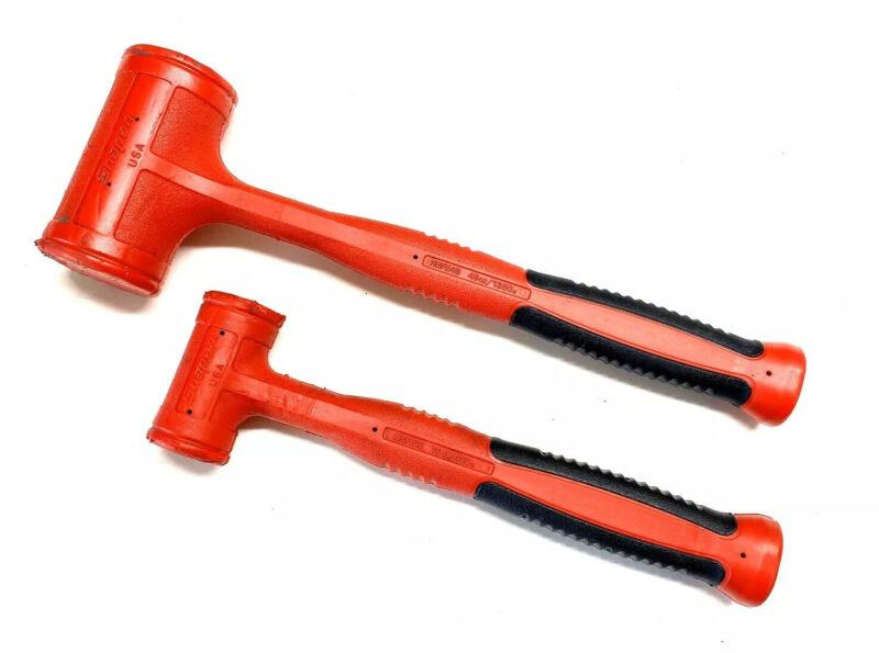 2 Pc Snap On Dead Blow Hammer Set 48oz & 16oz
