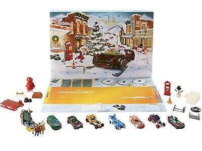 Hot Wheels 2019 Advent Calendar Vehicles New. Retail $19.99