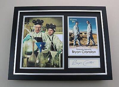 Bryan Cranston Signed Photo Framed 16x12 Breaking Bad Autograph Display COA