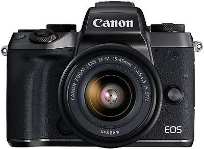 Canon EOS M5 Mirrorless Camera Body With 15-45mm IS STM Lens Kit Refurbished
