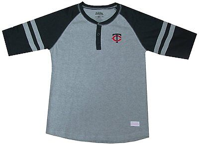 2daead41 Minnesota Twins Official MLB Baseball Colorblocked Henley Shirt Youth Size  Large