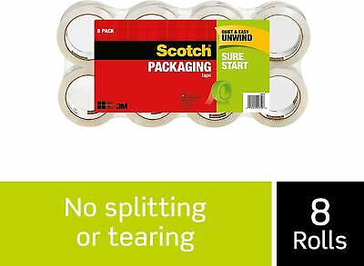 3m Scotch Shipping Tape 3500 Sure Start Packing Packaging 8 Rolls 1.88 X 54.6 Yd
