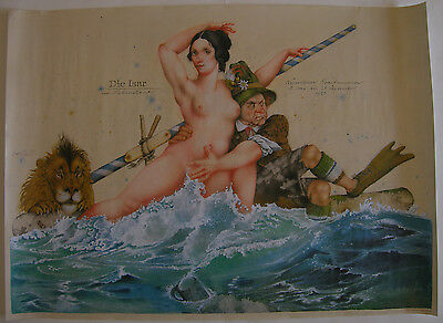 Michael Mathias Prechtl Die Isar Ein Lebenslauf Offset Plakat 1983