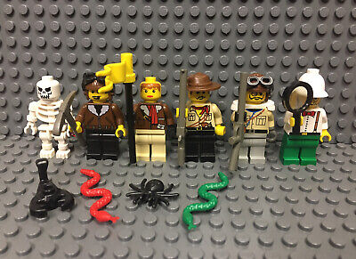 Lego Adventurers Minifigure Lot 6 Desert Orient Expedition 5928 7412 5956 7409