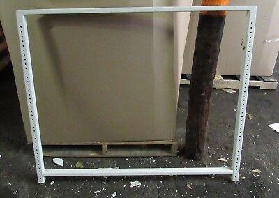 Lot Of 30 Commercial Metal Uprights Backroom Pallet Shelving Racks 49.5w X 42t