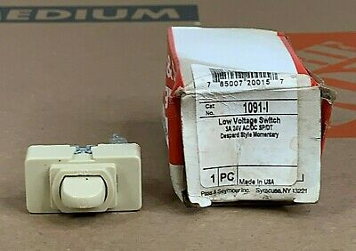 Pass Seymour Ivory 1091-i Low Voltage Acdc Spdt 3a 24v Switch Despard Style