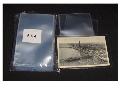 Polypropylene 6x4 Job Card Holder Protective Sleeves Wallet for Postcards Photos
