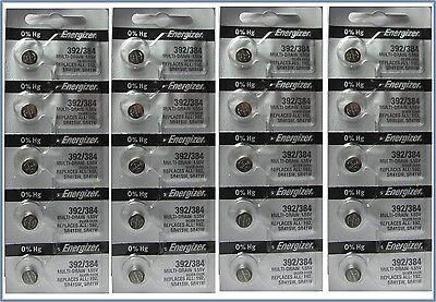 20 Energizer Button Cell SR41SW SR41W SR41 1.55v Silver Oxide Batteries