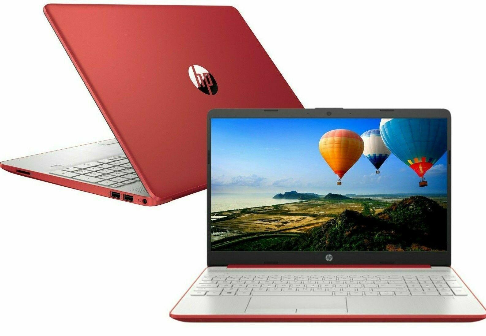 "Laptop Windows - NEW HP 15.6"" HD Red Laptop Intel Dual Core 2.4GHz 4GB RAM Webcam Windows 10"