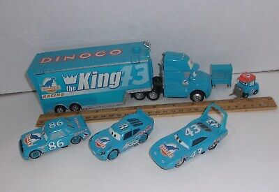 Disney Pixar Cars Dinoco Hauler Lightning The King Chick Hicks Diecast Lot