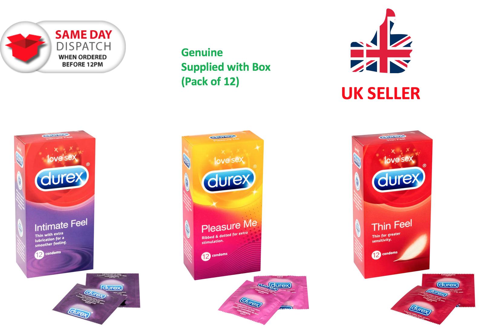 Durex - Pleasure Me Intimate Ultra Thin FEEL Condoms - Free P&P Discreet GENUINE