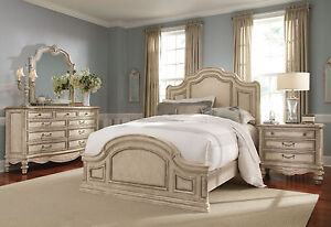 Grande Palace 5pcs Traditional Antique White Queen King