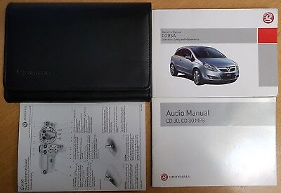 GENUINE VAUXHALL CORSA D OWNERS MANUAL HANDBOOK 2006-2011 WALLET