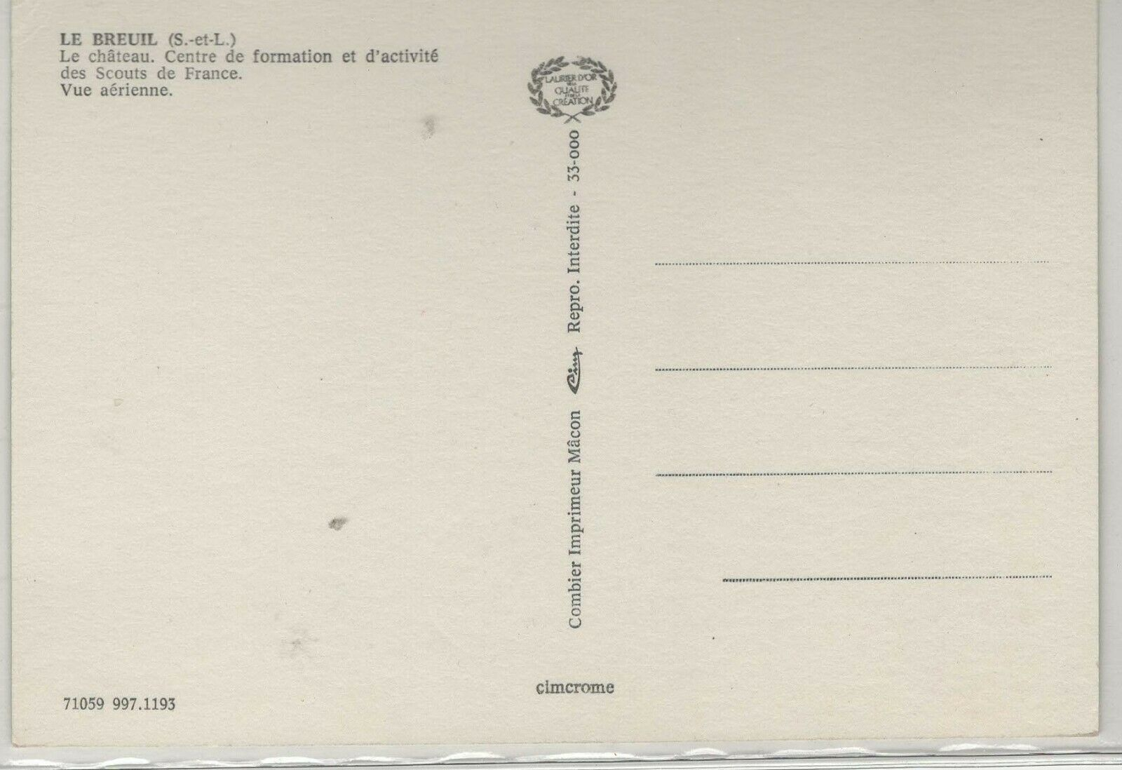 FRANCE PICTURE POST CARD SHOWING INFORMATION OFFICE OF THE BOY SCOUTS - $3.00