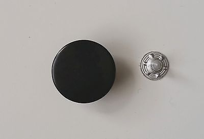 20 Metallknöpfe / Patentknöpfe 17mm schwarz