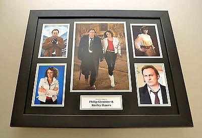 Keeley Hawes & Philip Glenister Signed Photo Large Framed Autograph Display +COA