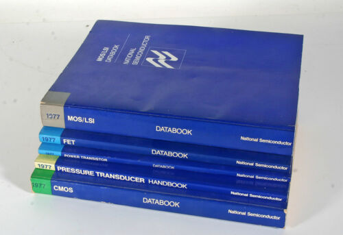 1977 National Semiconductor Data Books - 5 Total