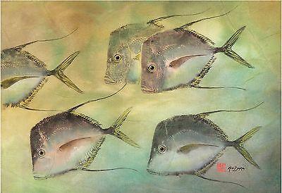 Gyotaku Fish Print – Lookdown