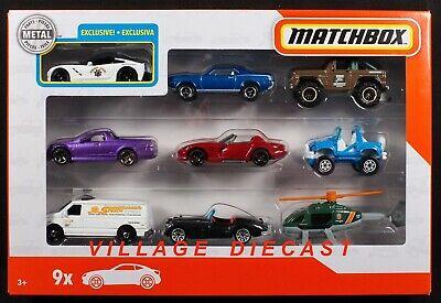 2019 Matchbox 9-Pack Exclusive Corvette Stingray + Jaguar / Holden / Ford / MIB