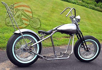 Fatbob Shovelhead Chopper Rigid Bobber Harley Rolling Chassis Frame