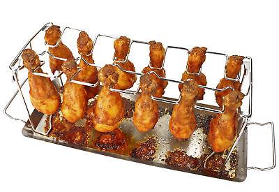 mumbi Hähnchenschenkel Chicken Wings Drumsticks Halter Rack Edelstahl Grill BBQ