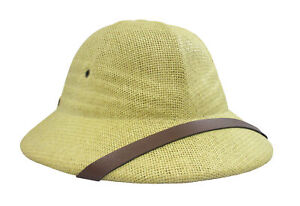 17236a62df878 British Pith Helmet Safari African Vietnam French Military Army Costume Hat