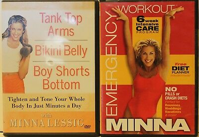 2 Minna Lessig workout Emergency Tank Top Arms Bikini Belly Boy shorts