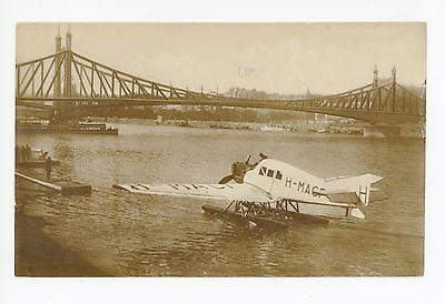 Sea Cargo Plane RPPC Budapest Hungary—Antique Aviation Photo Fotokarte AK 1910s