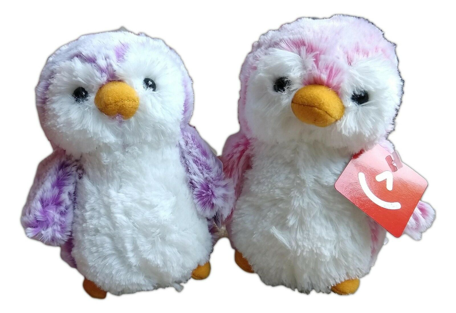 "POM POM PENGUIN BRIGHTS, Violet & Pink 6"" Stuffed Animal Plu"