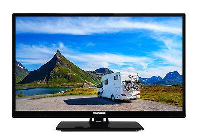 Telefunken XH24E401V Fernseher 24 Zoll HD-TV Smart TV, 12V, Triple Tuner schwarz
