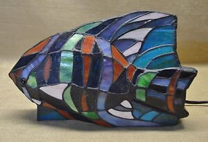 Stained Glass Fish Lamp