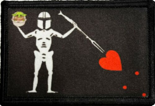 Mandalorian Pirate Flag Blackbeard  Morale Patch Tactical ARMY Military USA