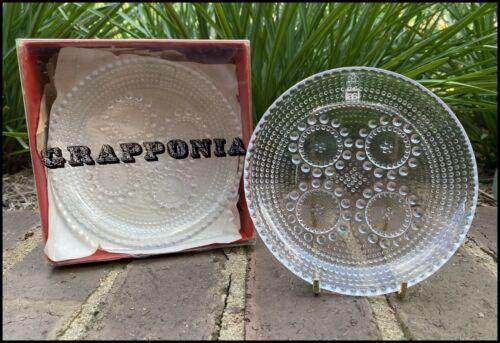 Vintage Riihimaen Lasi Grapponia Plates Nanny Still Finland Original Box x6