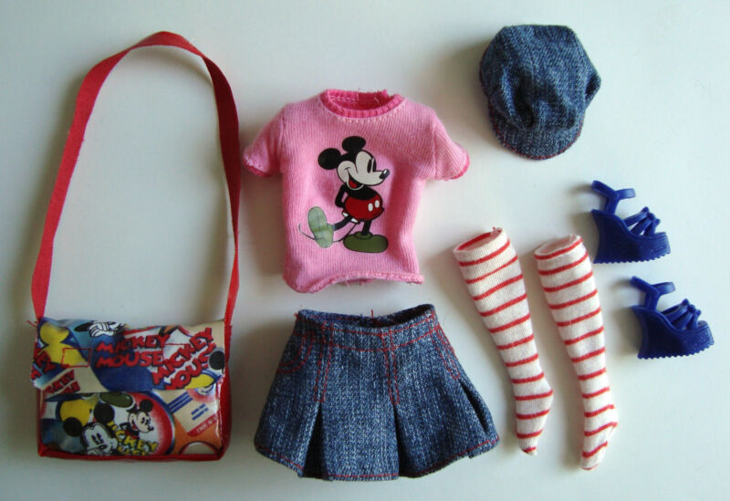 BARBIE Clothes/Fashion 6 PC Mickey Mouse Outfit Adorable! NEW!