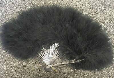 Vintage Style Black Feather Burlesque Dancing 50s 60s Show Girl Can Can Costume