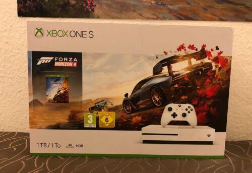 MICROSOFT Xbox One S 1TB Spiele Konsole Forza Horizon 4 Bundle Weiß NEU OVP