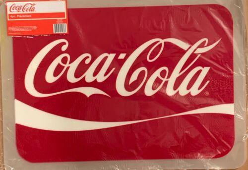 """Coke / Coca-cola Placemats ~ ( 4 Pack ) ~  13"""" X 18"""" ~ Vinyl"""